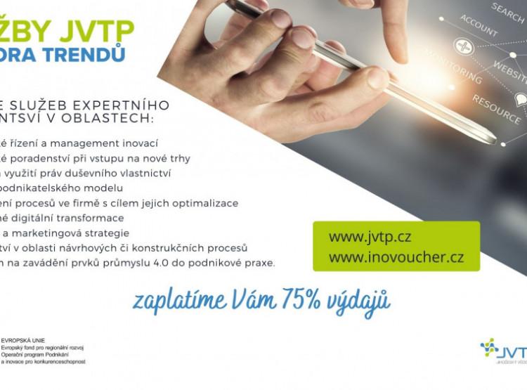 """K dnešnímu dni byl zahájen příjem žádostí v novém programu """"Služby JVTP - Podpora Trendů"""" (PoTr)"""